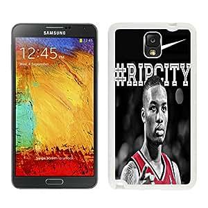 Damian Lillard White Hard Plastic Samsung Galaxy Note 3 N900A N900V N900P N900T Phone Cover Case
