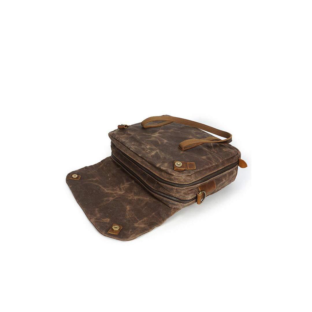 DQMSB Mens Briefcase Fashion Business Tote Retro Shoulder Crossbody Bag