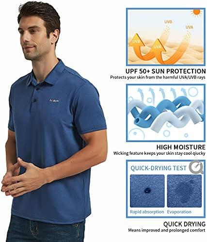51eWAdRd8GS. AC Men's Golf Polo Shirts Short Sleeve UPF 50+ Sun Protection Quick Dry Hiking Fishing Outdoor Performance T-Shirt    KPSUN Men's Cool Sun Protection Polo Shirt