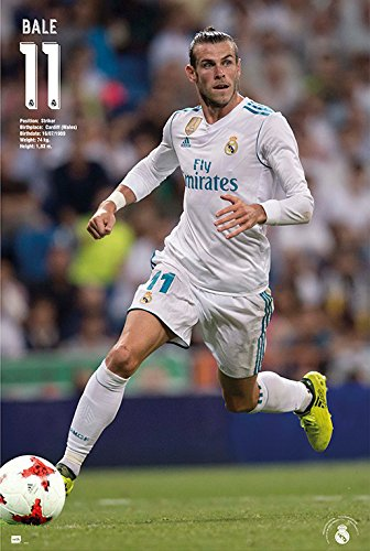 Real Madrid - Soccer / Sport Poster Gareth Bale In Action - Season 2017