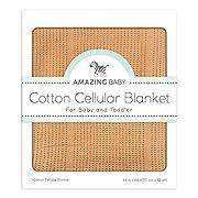 Amazing Baby Cellular Blanket, Premium Cotton, Butterum