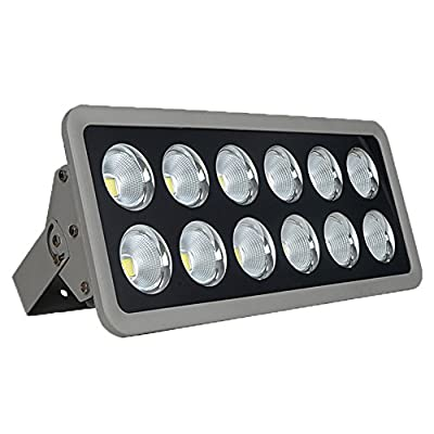 Julitech 200W-600W LED Flood Light, Waterproof IP65, 6500Lm, Super Bright Outdoor LED Flood Lights For Playground, Garage, Garden, Lawn And Yard Model