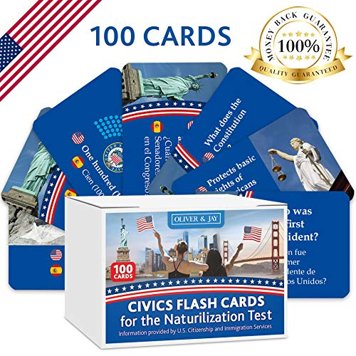 US Citizenship Test Civics Flash, citizenship Study Guide 2019, US Citizenship Test Civics Flash Cards for The Naturalization exam,100 USCIS Questions and Answers, American citizenship Flash Cards (History And Government Questions For The Naturalization Test)