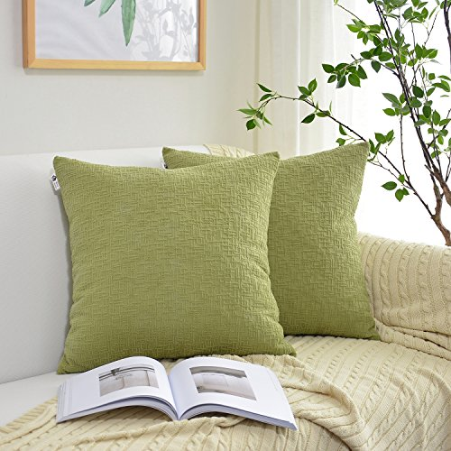Kevin Textile Solid Velvet Decoration Toss Throw Pillow Case Cushion Cover Comfortable Soft Striped Decorative Pillowcase for Bed/Chair/Couch, 20