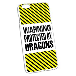 Warning Protected By Dragons Snap On Hard Protective Case for Apple iPhone 6 6s Plus