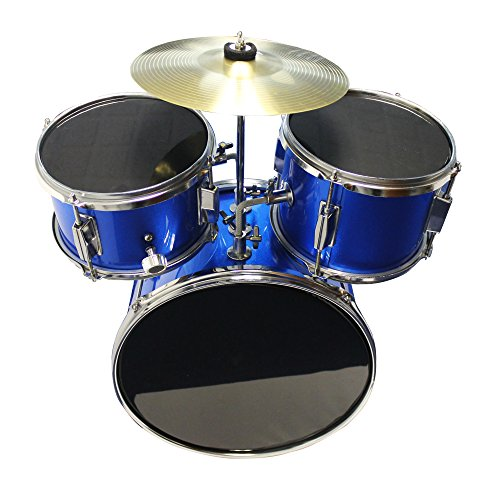 Music Alley Kids 3 Piece Beginners Drum Kit Blue inch DBJK02 by Music Alley (Image #3)