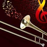 Apelila Gold Bb Tenor Trombone, Tuner, with Hard