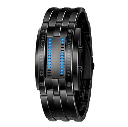 WATCH Reloj elegante reloj de acero inoxidable impermeable Digital LED hombres multi función reloj deportivo relogio