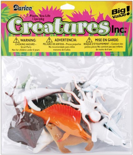 Creatures Inc.-Sea Life 12/Pkg , Kid ,Toy , Hobbie , Nice Gift
