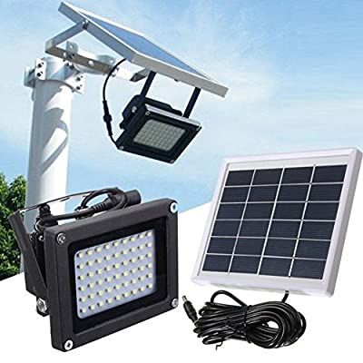 Outdoor Security Solar Floodlight,Solar Powered 54 LED 400LM Optical Sensor Light IP65 Waterproof Solar Lamp for Outdoor Garden Stairs Patio Security Lighting