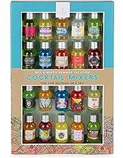 Modern Gourmet Foods, Mix & Match Zomer Cocktail Mixer Cadeauset, Set van 20 Smaken Inclusief Appletini, Blue Hawaaian, Margarita en Meer (Bevat Geen Alcohol)