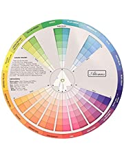 Creative Color Wheel Pigment Wheel Mixing Learning Guide Art Class Lesson Tools for Makeup Mixing Board Diagram Color Mixing Guide 23 cm Nice and Professional