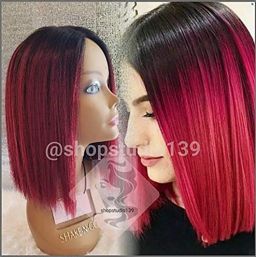 Sexy Human blend hair wig red cherry non