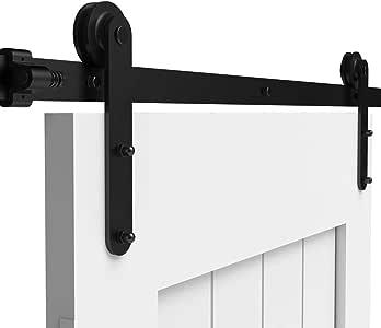 228CM/7.5FT Herraje para Puerta Corredera Kit de Accesorios para Puertas Correderas Conjunto de Piezas de Metal Carril para Puerta Deslizante: Amazon.es: Bricolaje y herramientas