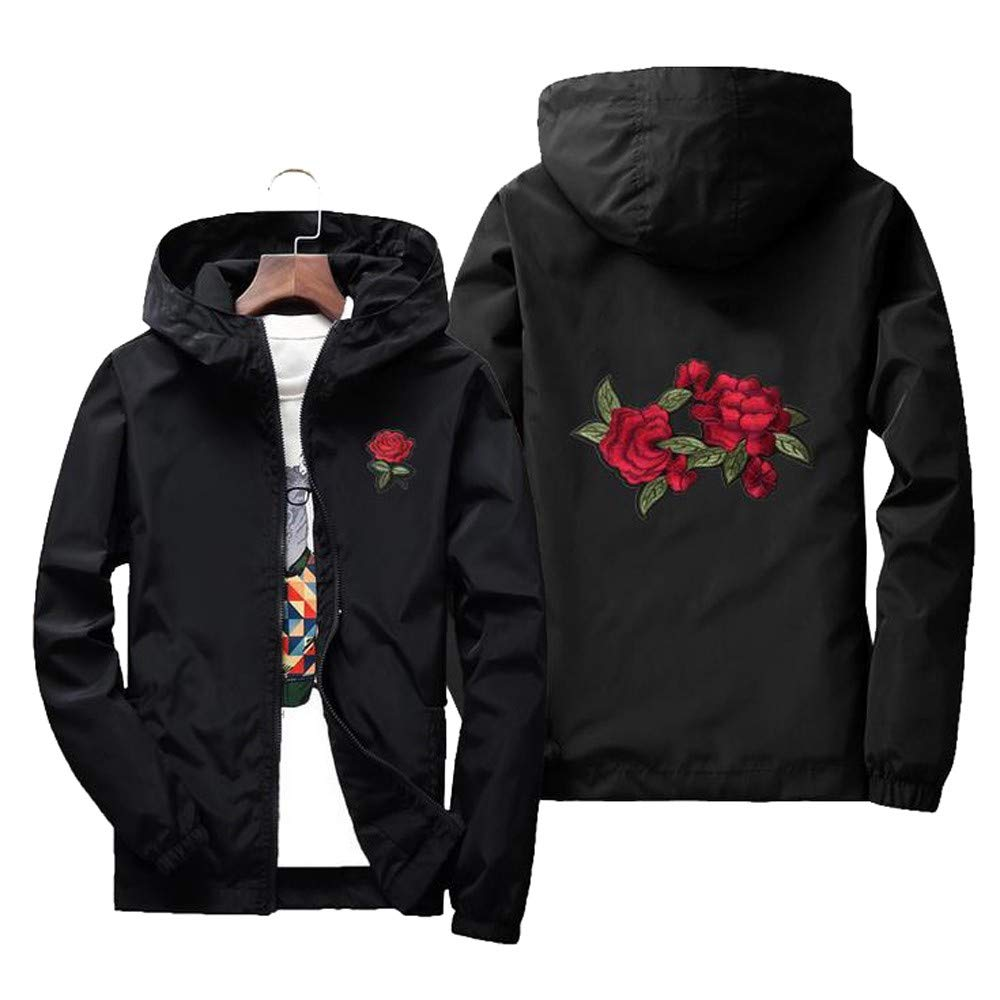 TAGGMY Jackets for Men Pullover Hoodie Autumn Winter Casual Fashion Printing Long Sleeve Sunscreen Hooded Sweatshirt Tops