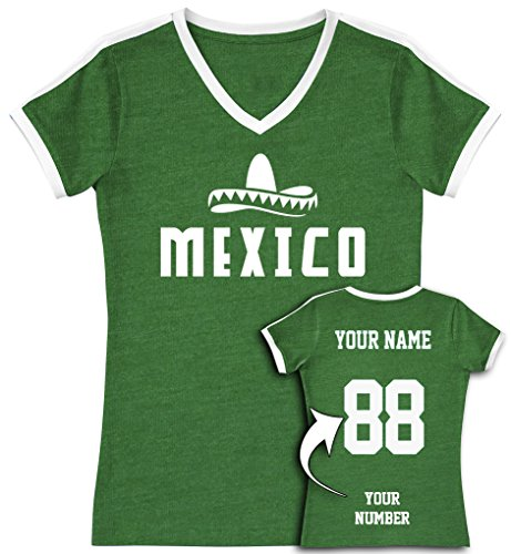 778cc7182 Mexico Soccer Jersey T Shirts - Custom Jerseys   Personalized Team Uniforms  for Women
