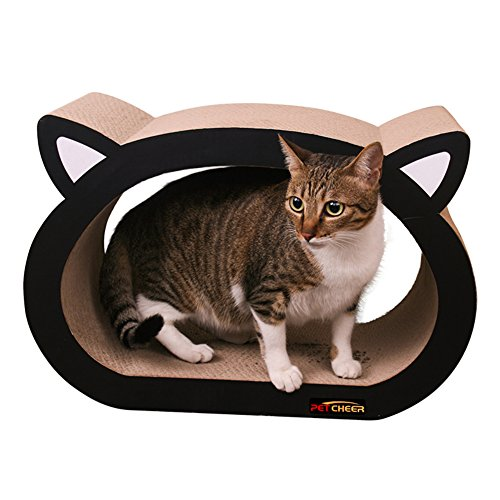 PetCheer Cat Face Ultimate Scratcher Lounge Bed with ()