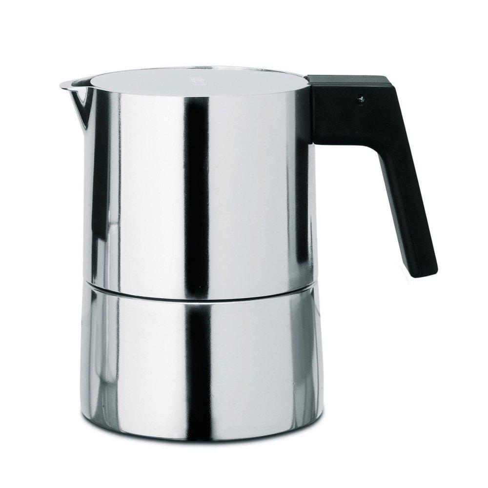 Alessi PL01/3 Pina Espr.Coffee Maker 3Cps 3 Piece Espresso Coffee Cups, Silver by Alessi