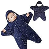 LaChaDa Baby Sleeping Bag Cotton Wearable Sleep Sack Autumn Winter Swaddle Sleepsuit Blankets Slumber Bag for Newborn Toddler Boys Girls, Starfish 8-20 Months