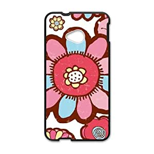 Flower Hill HTC One M7 Cell Phone Case Black&Phone Accessory STC_142633
