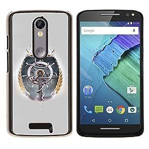 For Motorola Droid Turbo 2 / Moto X Force Case , Rueda de la nave- Diseño Patrón Teléfono Caso Cubierta Case Bumper Duro Protección Case Cover Funda