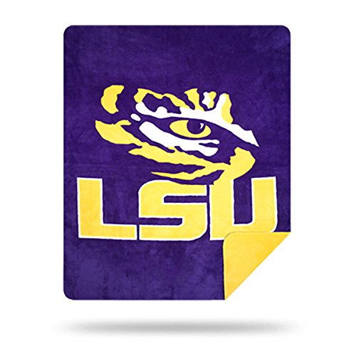 Officially Licensed NCAA LSU Tigers Denali Silver Knit Throw Blanket, Gold, 60