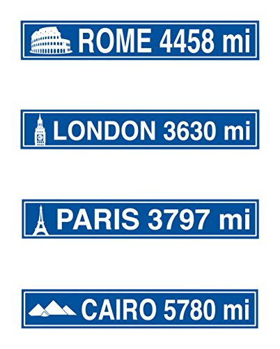 Beistle S54151AZ3, 12 Piece Travel Street Sign Cutouts, 4'' x 24'' for $<!--$11.96-->