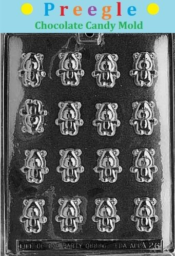 (PLP-A026 Bite Size Teddy Bears Chocolate Candy Mold)