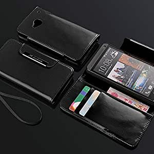 Book Style Fashion PU Leather Case for HTC ONE M7 Wallet Pouch, 12 colors for wholesale DHL Shipping --- Color:mix colors
