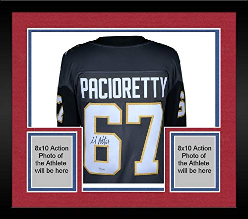 Autographed Authentic Away Jersey - Framed Max Pacioretty Vegas Golden Knights Autographed Black Fanatics Breakaway Jersey - Fanatics Authentic Certified
