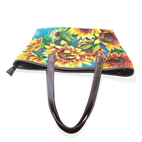 Patern Women Top Handbag Bags Ladies Handle Bennigiry Tote Large Shoulder Sunflower RqWSd8n