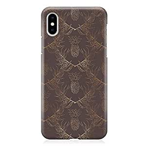 Loud Universe Phone Case Fits iPhone XS Max with Wrap around Edges Linear Dark Pineapple Phone Case Dark 3D Phone Cover