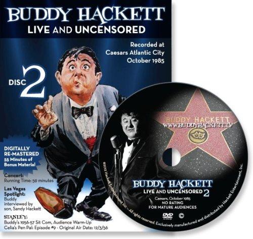 Buddy Hackett 2 Live and Uncensored At Caesar's, Atlantic City DVD (2012)