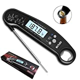 Digital Meat Thermometer for Grilling, IP67 Waterproof Kitchen Cooking Thermometer with Highly Sensitive Probe, Instant-Read Food Thermometer with Calibration and Backlit Function for BBQ Coffee Candy