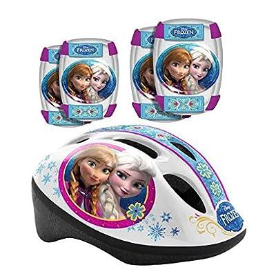Disney Casque de vélo pour enfant Protections coudes Genouillères Protège Frozen La Reine des Neiges Combo Set Stamp