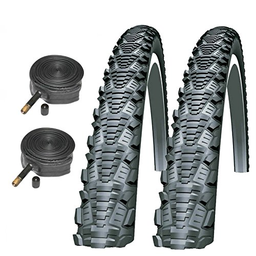Schwalbe CX Comp 700 x 35c Bike Tires with Schrader Tubes (Pair)