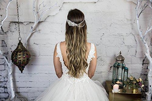 Crystal Bridal Head Chain / Wedding Headband / Crystal Head Chain Bohemian Hair Piece / Hair Jewelry for the Bride / Boho Beach Weddings Hair Accessories / Headchain / Head Piece / Weddings / Handmade by Hair Floaters
