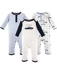 Baby Cotton Union Suit, 3 Pack