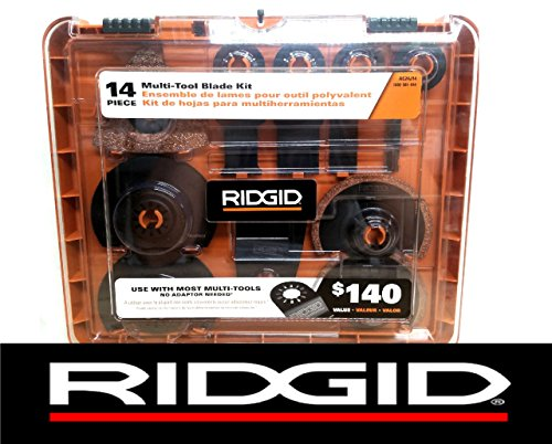 (New Ridgid 14 Pc Jobmax Multi-Tool Accessory Cutting Grinding Blade Kit Ac24j14)