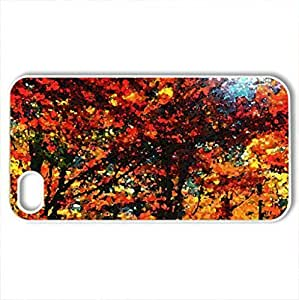 The Autumn Is Fantastic - Case Cover for iPhone 4 and 4s (Forests Series, Watercolor style, White)
