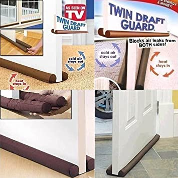 Twin Draft Guard Draught Excluder Door Window Energy Saving Insulator New