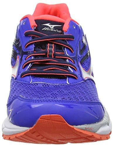 Mizuno Wave Inspire 12 (W) - Zapatillas de running Mujer Blue (Dazzling Blue/Silver/Fiery Coral)