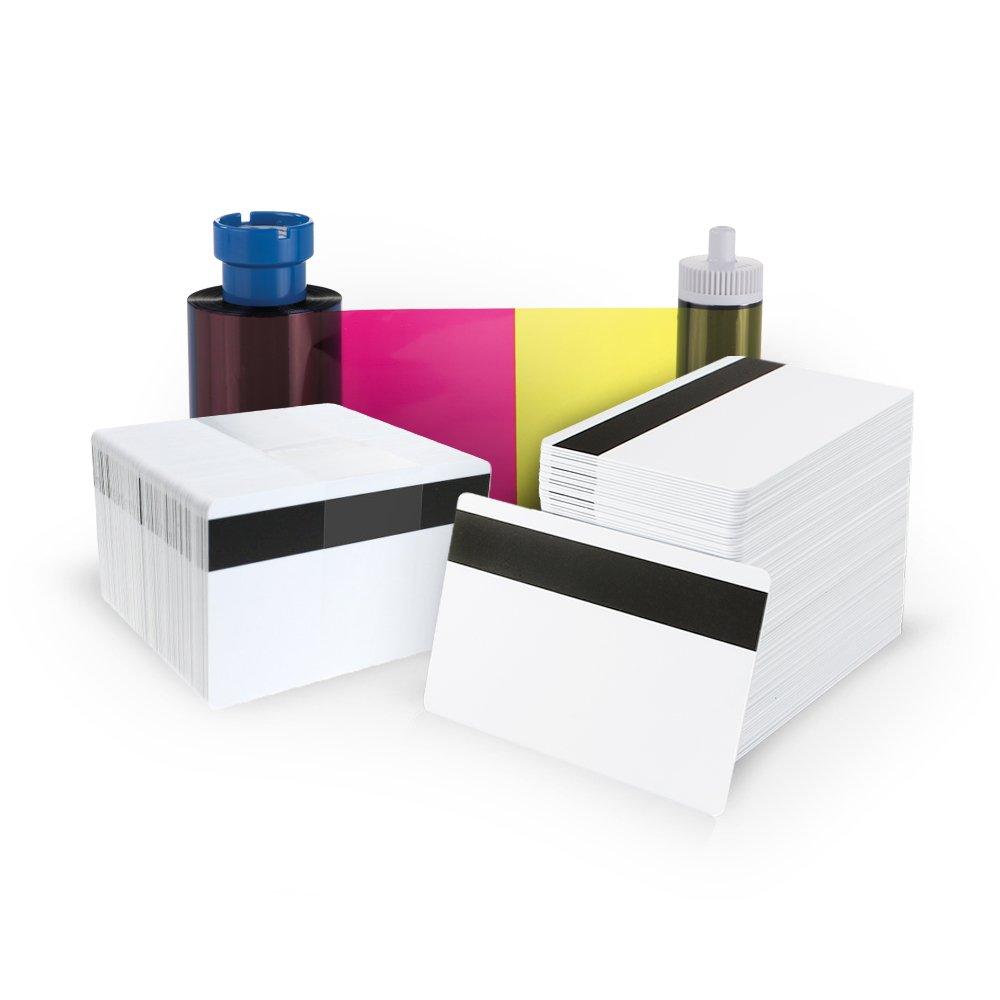 AlphaCard YMCKOK 250 Print Ribbon/Mag Stripe HiCo Card Pack for AlphaCard Compass Printer