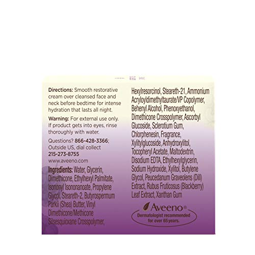 51eWGw4xkuL - Aveeno Absolutely Ageless Restorative Night Cream Facial Moisturizer with Antioxidant-Rich Blackberry Complex, Vitamin C & E, Hypoallergenic, Non-Greasy & Non-Comedogenic, 1.7 fl. oz
