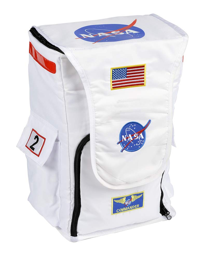 Aeromax Jr. Astronaut Backpack, White, with NASA patches by Aeromax