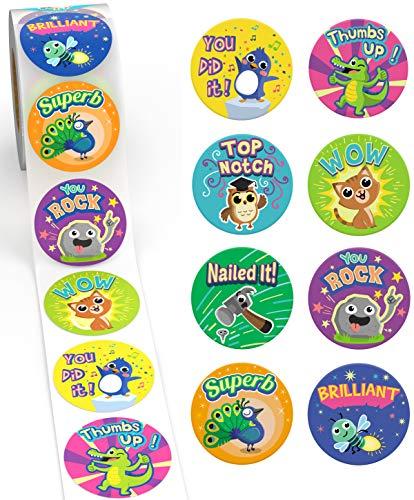 Reward Stickers for Kids by Sweetzer & Orange – 1000 Stickers, 8 Assorted Designs, 1.5 Inch School Stickers – Teacher…