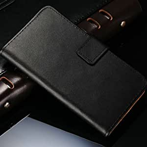 10 Pcs/lot Retro Luxury Leather Wallet For SONY Xperia C S39H C2305 Case Vintage Stand Card holder With Bill Site Wholesale --- Color:Black