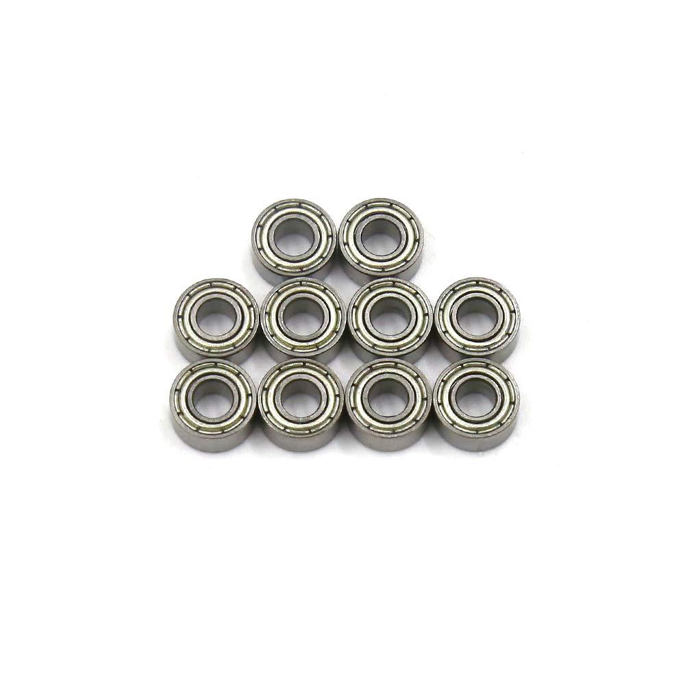 10 Pcs TOUHIA 4 x 9 x 3.5mm 684ZZ Sealed Deep Groove Radial Ball Bearings