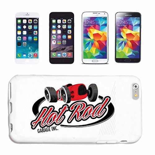 """cas de téléphone iPhone 7S """"HOT ROD RACE GARAGE HOT ROD CAR US Mucle CAR V8 ROUTE 66 USA AMÉRIQUE"""" Hard Case Cover Téléphone Covers Smart Cover pour Apple iPhone en blanc"""