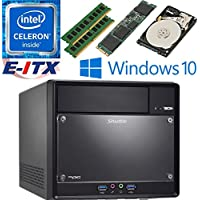 Shuttle SH110R4 Intel Celeron G3930 (Kaby Lake) XPC Cube System , 32GB Dual Channel DDR4, 120GB M.2 SSD, 1TB HDD, DVD RW, WiFi, Bluetooth, Window 10 Pro Installed & Configured by E-ITX